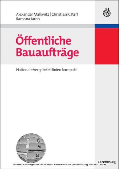 Öffentliche Bauaufträge - Blick ins Buch