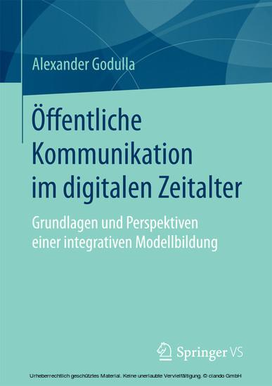 Öffentliche Kommunikation im digitalen Zeitalter - Blick ins Buch