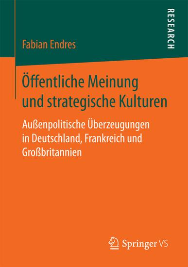 Öffentliche Meinung und strategische Kulturen - Blick ins Buch