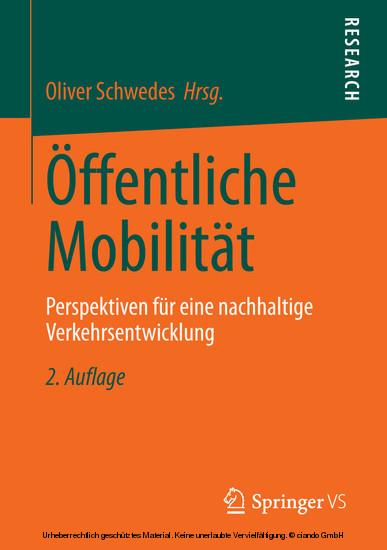Öffentliche Mobilität - Blick ins Buch