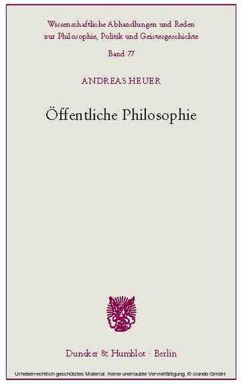 Öffentliche Philosophie. - Blick ins Buch