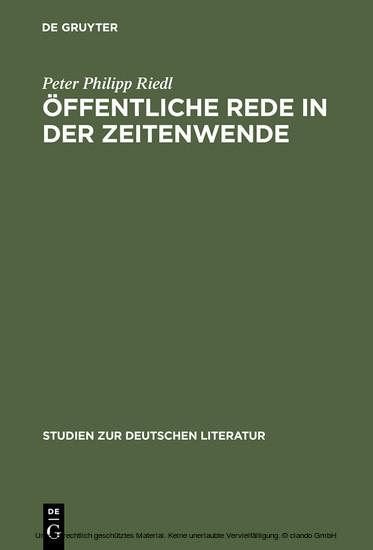 Öffentliche Rede in der Zeitenwende - Blick ins Buch