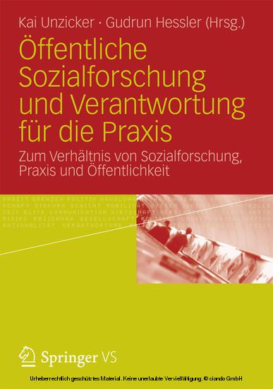 Öffentliche Sozialforschung und Verantwortung für die Praxis - Blick ins Buch