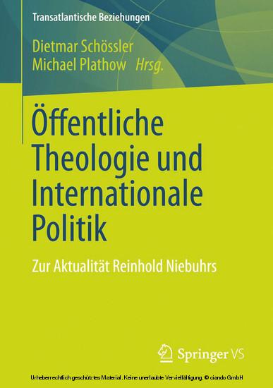 Öffentliche Theologie und Internationale Politik - Blick ins Buch