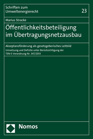 Öffentlichkeitsbeteiligung im Übertragungsnetzausbau - Blick ins Buch