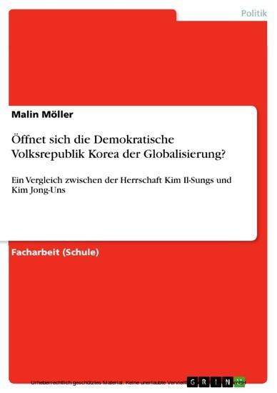 Öffnet sich die Demokratische Volksrepublik Korea der Globalisierung? - Blick ins Buch