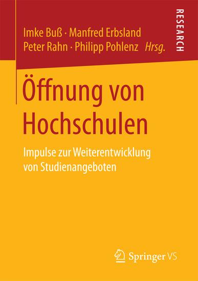 Öffnung von Hochschulen - Blick ins Buch