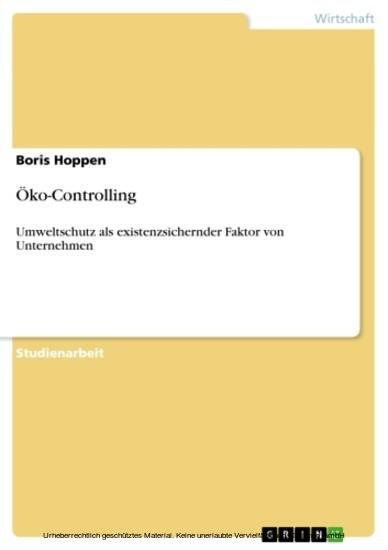 Öko-Controlling - Blick ins Buch