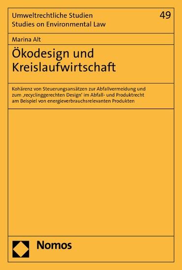 Ökodesign und Kreislaufwirtschaft - Blick ins Buch