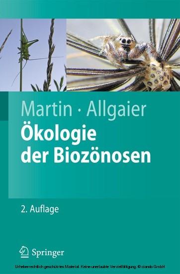 Ökologie der Biozönosen - Blick ins Buch