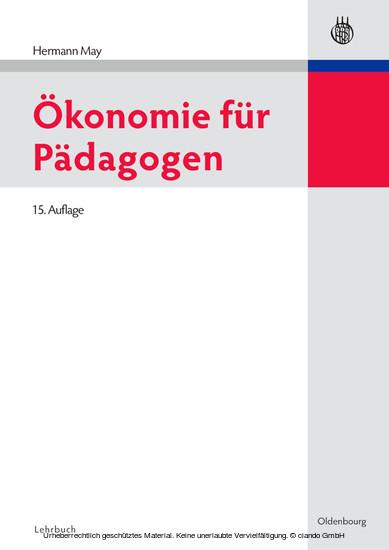 Ökonomie für Pädagogen - Blick ins Buch
