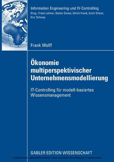 Ökonomie multiperspektivischer Unternehmensmodellierung - Blick ins Buch