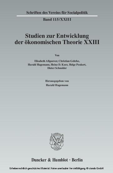 Ökonomie und Technik. - Blick ins Buch
