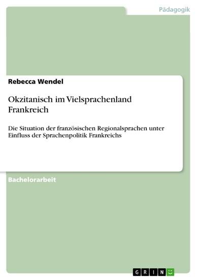 Okzitanisch im Vielsprachenland Frankreich - Blick ins Buch