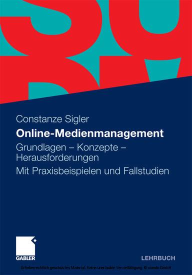 Online-Medienmanagement - Blick ins Buch