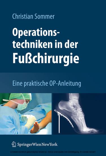 Operationstechniken in der Fußchirurgie - Blick ins Buch