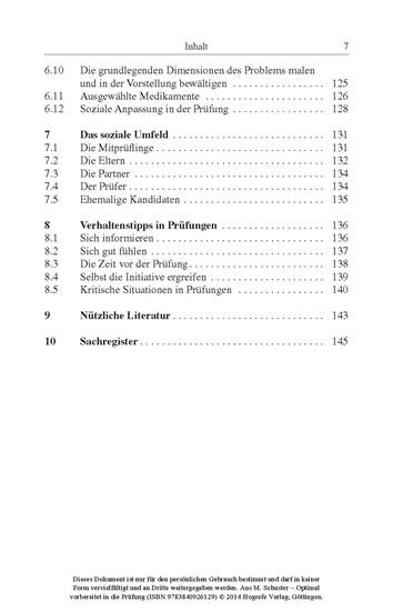Optimal vorbereitet in die Prüfung - Blick ins Buch