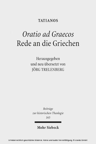 Oratio ad Graecos / Rede an die Griechen - Blick ins Buch