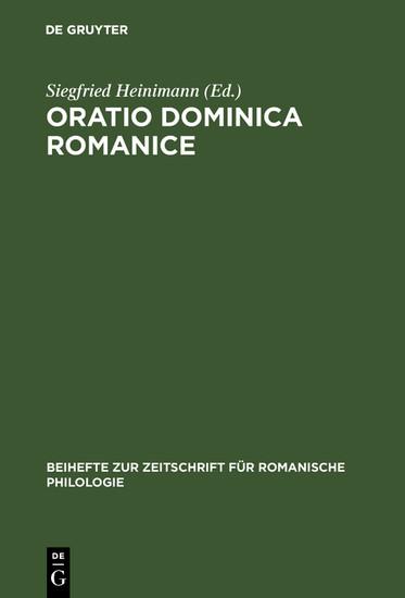 Oratio Dominica Romanice - Blick ins Buch