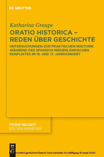 Oratio historica - Reden über Geschichte - Blick ins Buch