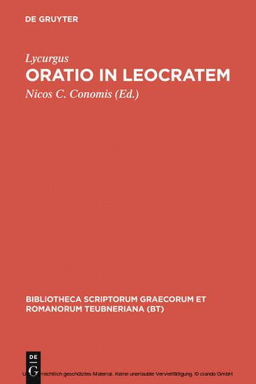 Oratio in Leocratem - Blick ins Buch