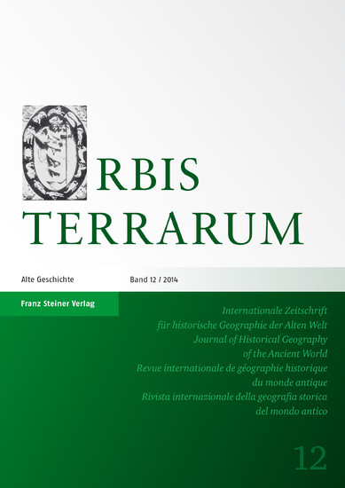 Orbis Terrarum 12 (2014) - Blick ins Buch