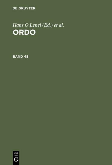 ORDO - Blick ins Buch