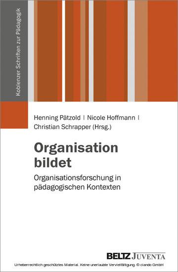 Organisation bildet - Blick ins Buch