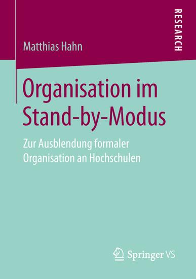 Organisation im Stand-by-Modus - Blick ins Buch