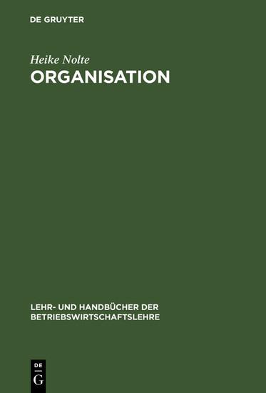 Organisation - Blick ins Buch