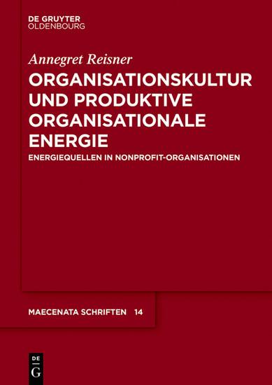 Organisationskultur und Produktive Organisationale Energie - Blick ins Buch