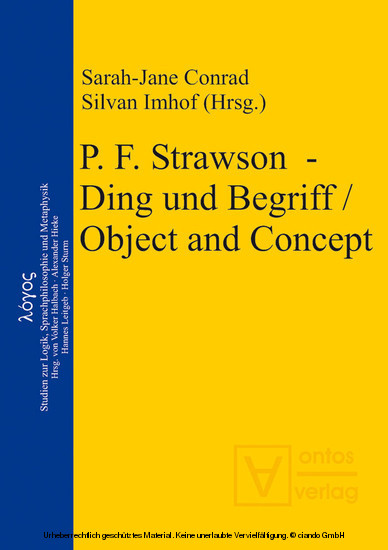 P. F. Strawson - Ding und Begriff / Object and Concept - Blick ins Buch
