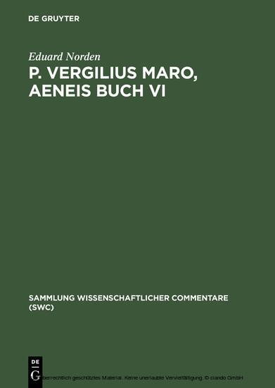 P. Vergilius Maro, Aeneis Buch VI - Blick ins Buch