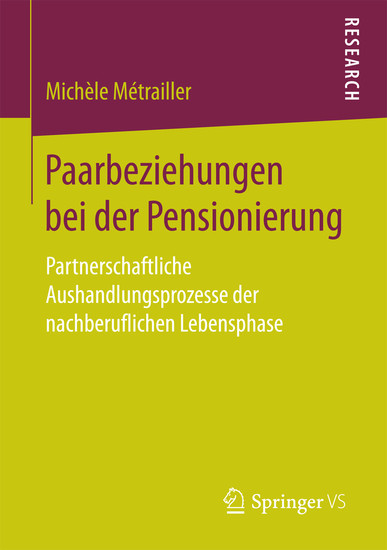 Paarbeziehungen bei der Pensionierung - Blick ins Buch