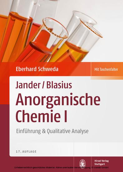 Package: Jander/Blasius, Anorganische Chemie I + II - Blick ins Buch