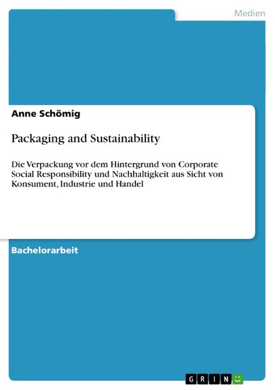 Packaging and Sustainability - Blick ins Buch