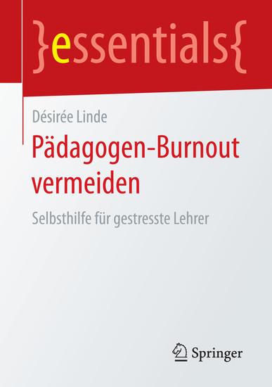 Pädagogen-Burnout vermeiden - Blick ins Buch