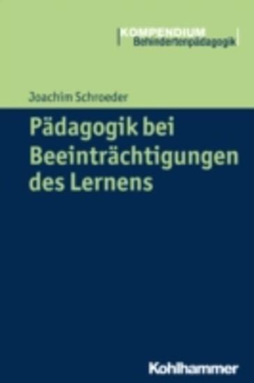 Pädagogik bei Beeinträchtigungen des Lernens - Blick ins Buch