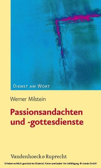Passionsandachten und -gottesdienste - Blick ins Buch