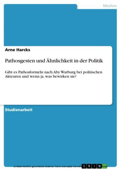 Pathosgesten und Ähnlichkeit in der Politik - Blick ins Buch