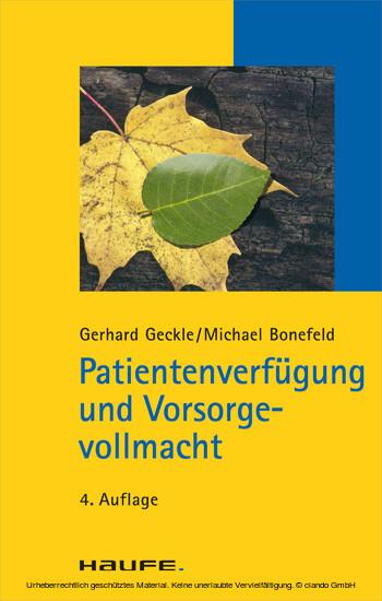 Patientenverfügung und Vorsorgevollmacht - Blick ins Buch