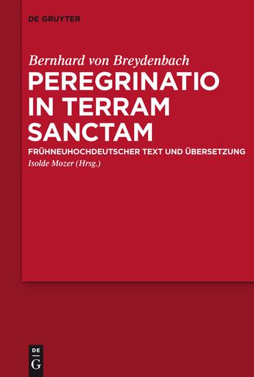 Peregrinatio in terram sanctam - Blick ins Buch