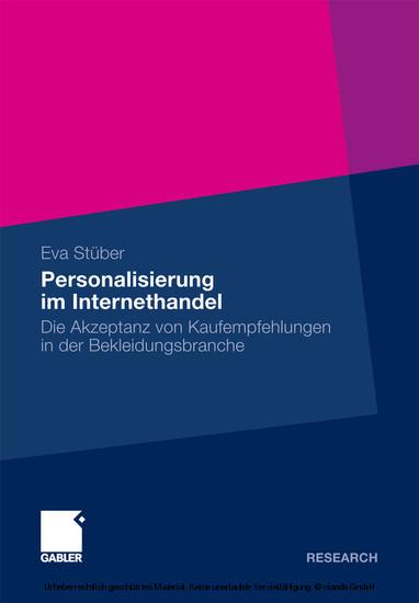 Personalisierung im Internethandel - Blick ins Buch