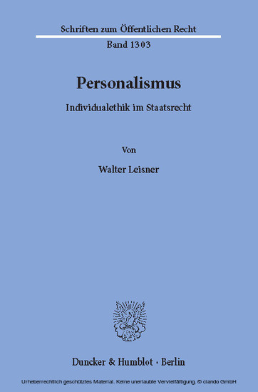 Personalismus. - Blick ins Buch