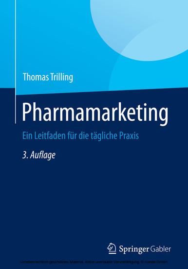 Pharmamarketing - Blick ins Buch