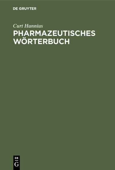 Pharmazeutisches Wörterbuch - Blick ins Buch