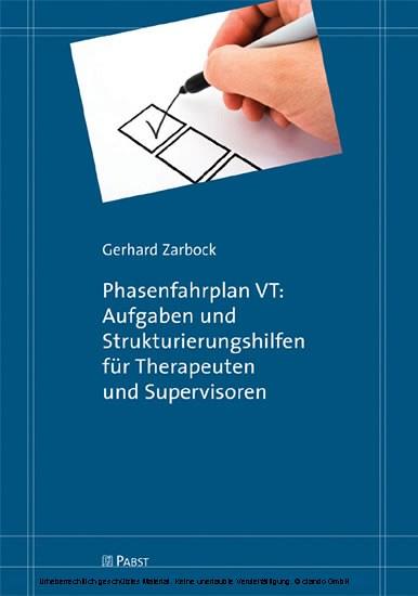Phasenfahrplan VT: Aufgaben und Strukturierungshilfen für Therapeuten und Supervisoren - Blick ins Buch