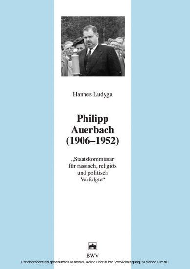 Philipp Auerbach (1906 - 1952) - Blick ins Buch