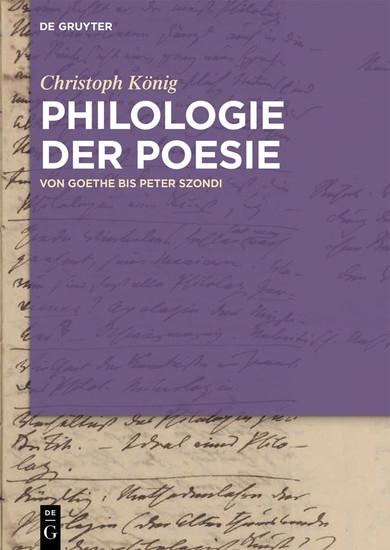 Philologie der Poesie - Blick ins Buch