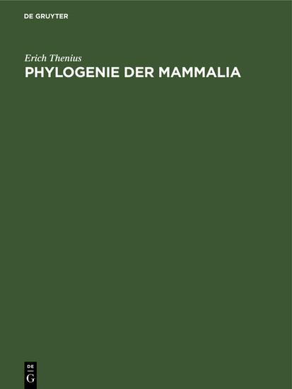 Phylogenie der Mammalia - Blick ins Buch